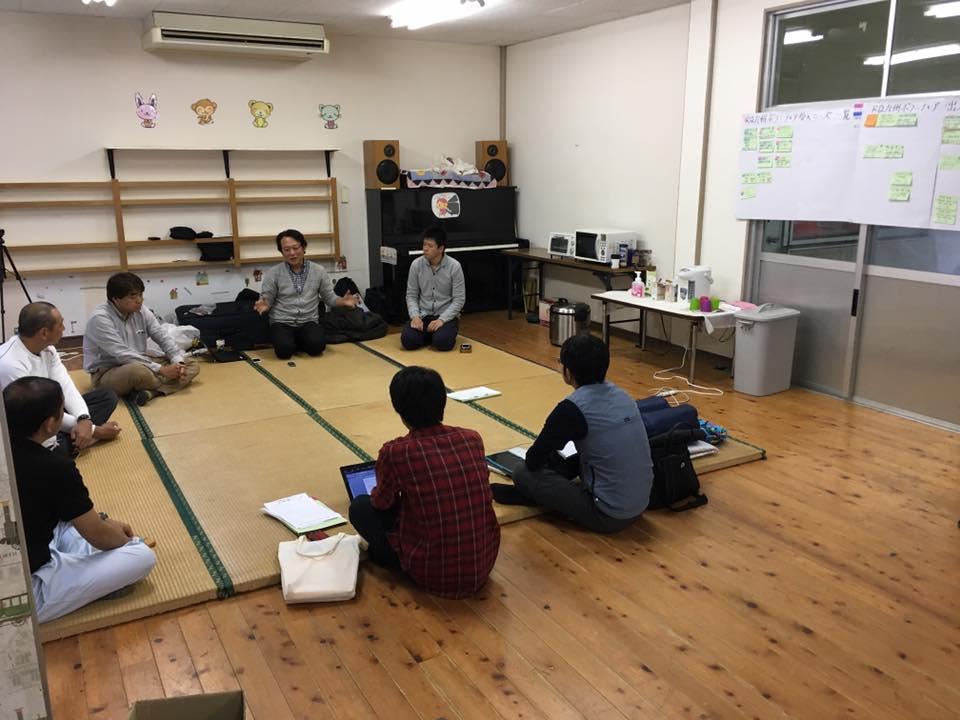 美里ボランティアセンターの夜ミーティング
